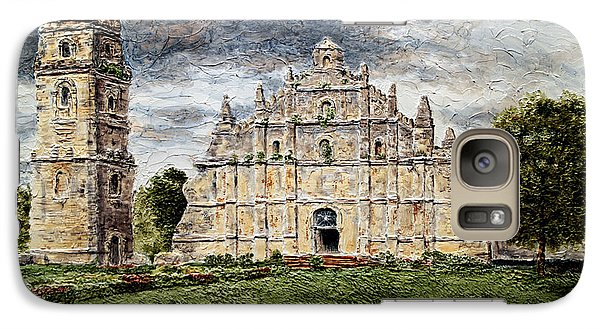Galaxy Case featuring the painting Paoay Church by Joey Agbayani
