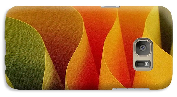 Galaxy Case featuring the photograph Paper Curves by Ranjini Kandasamy