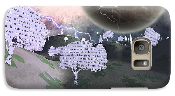 Galaxy Case featuring the digital art Paper Trees by Bruce Rolff