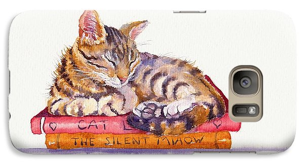 Cat Galaxy S7 Case - Paperweight by Debra Hall