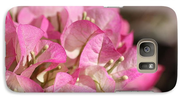 Galaxy Case featuring the photograph Papery In Pink by Cathy Dee Janes