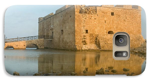 Galaxy Case featuring the photograph Paphos Harbour Castle by Jeremy Voisey