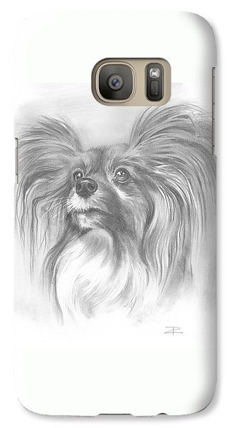 Galaxy Case featuring the drawing Papillon by Paul Davenport