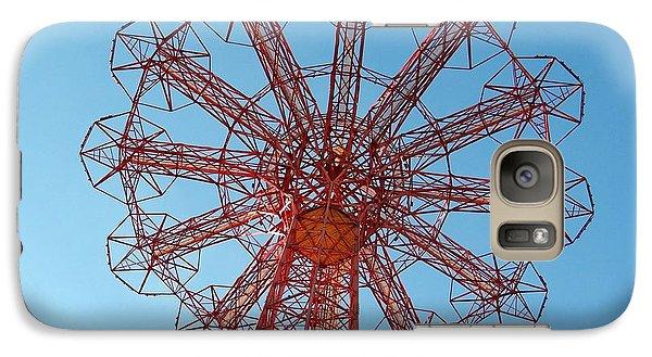 Galaxy Case featuring the photograph Parachute Jump-coney Island by Ed Weidman