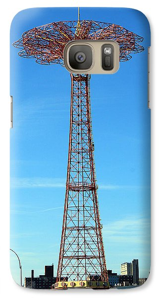 Galaxy Case featuring the photograph Parachute Jump Iphone Case by Jim Poulos