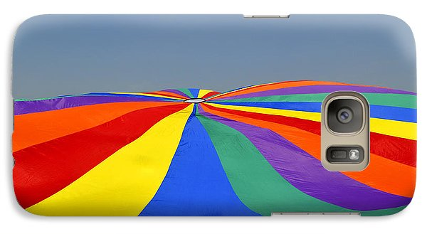 Galaxy Case featuring the photograph Parachute Of Many Colors by Verana Stark