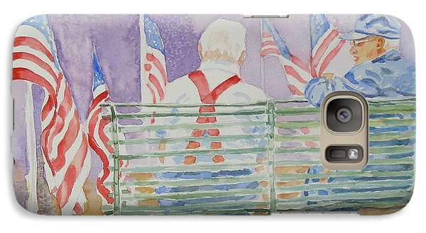Galaxy Case featuring the painting Parade Day by Mary Haley-Rocks