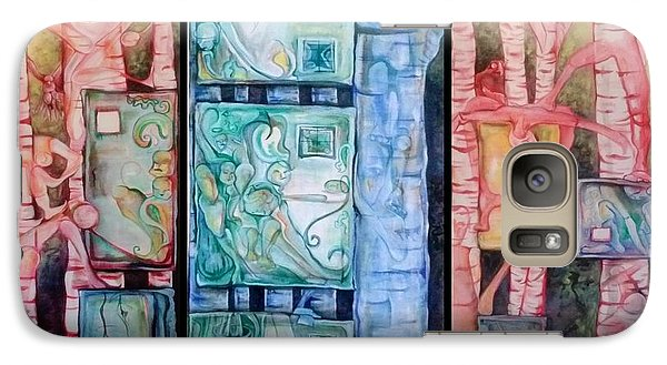 Galaxy Case featuring the painting Paradigm Shift Rise Of The Empathetic Civilization by Carol Rashawnna Williams