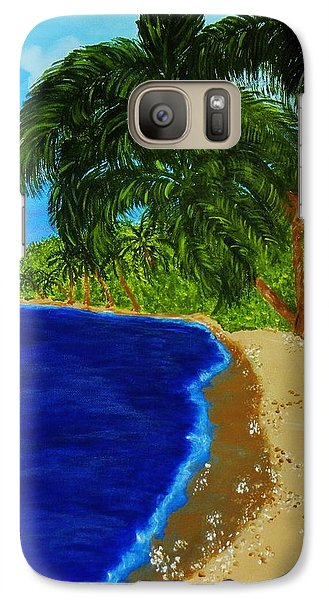 Galaxy Case featuring the painting Paradise by Celeste Manning