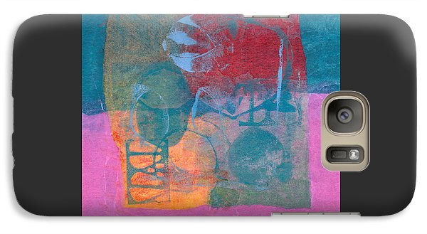 Galaxy Case featuring the mixed media Paradise Gardens by Catherine Redmayne