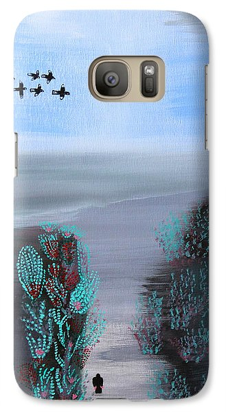 Galaxy Case featuring the painting Paradise by Lorna Maza