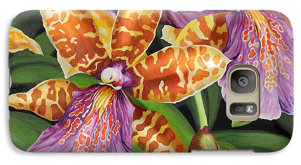 Galaxy Case featuring the painting Paradise Orchid by Jane Girardot