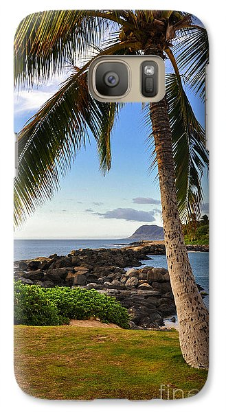Galaxy Case featuring the photograph Paradise Palm by Gina Savage