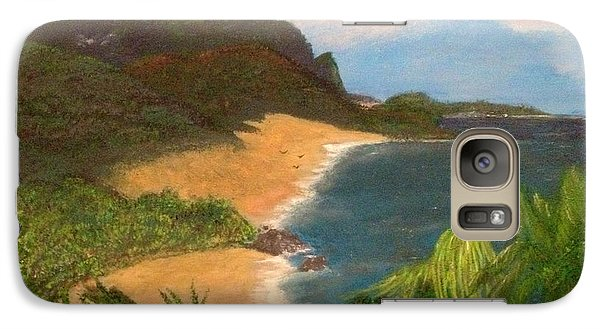 Galaxy Case featuring the painting Paradise by Vanessa Palomino