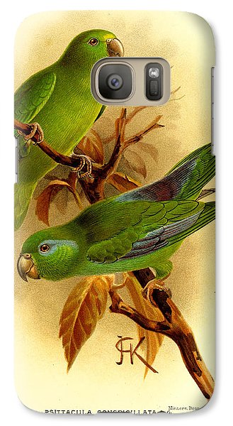 Parakeet Galaxy S7 Case - Parakeet by Dreyer Wildlife Print Collections
