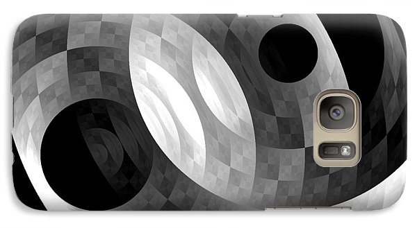 Galaxy Case featuring the digital art Parallel Universes by Martina  Rathgens