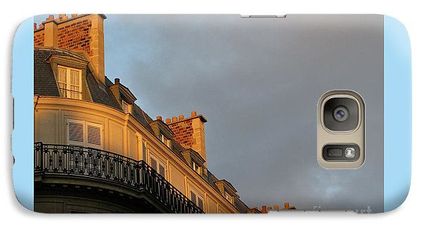 Galaxy Case featuring the photograph Paris At Sunset by Ann Horn