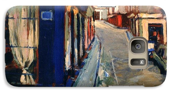 Galaxy Case featuring the painting Paris Cityscape by Walter Casaravilla