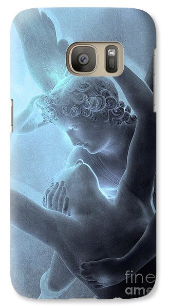 Louvre Galaxy S7 Case - Eros Psyche Louvre Sculpture - Paris Eros And Psyche Romance Lovers  by Kathy Fornal