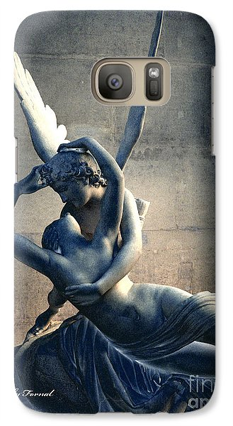 Louvre Galaxy S7 Case - Paris Eros And Psyche Romantic Lovers - Paris In Love Eros And Psyche Louvre Sculpture  by Kathy Fornal
