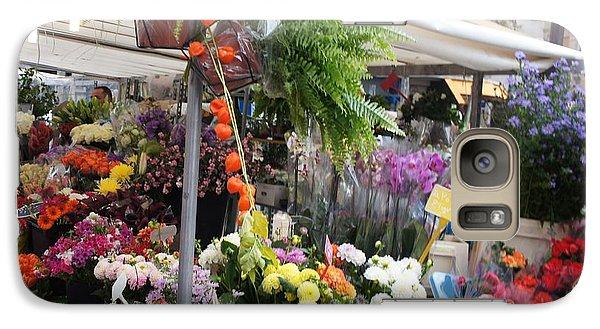 Galaxy Case featuring the photograph Paris Flower Market by Kristine Bogdanovich