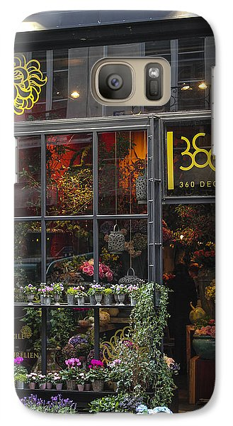 Galaxy Case featuring the photograph Paris Flower Shop by Glenn DiPaola