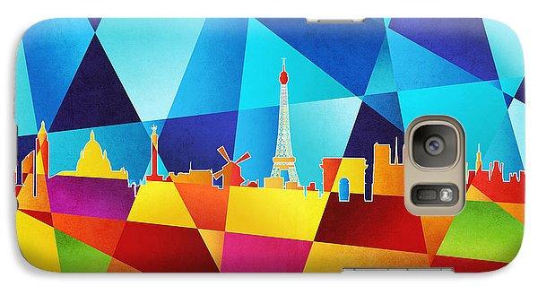 Eiffel Tower Galaxy S7 Case - Paris France Skyline by Michael Tompsett