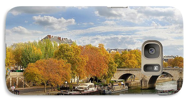Louvre Galaxy S7 Case - Paris In Autumn by Delphimages Photo Creations