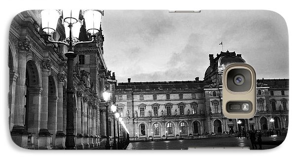 Paris Louvre Museum Lanterns Lamps - Paris Black And White Louvre Museum Architecture Galaxy S7 Case