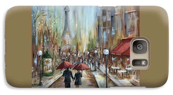 Paris Lovers Ill Galaxy Case by Marilyn Dunlap