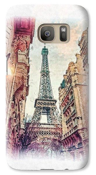 Mo Galaxy S7 Case - Paris Mon Amour by Mo T