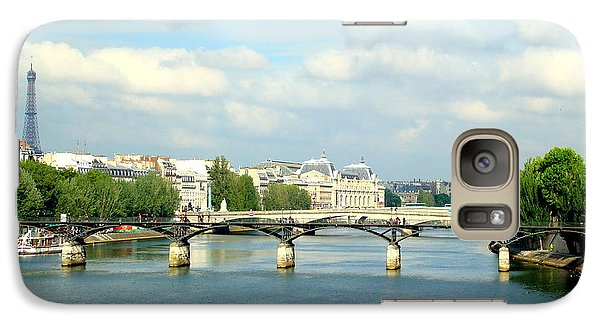Galaxy Case featuring the photograph Paris On The Seine by Kay Gilley