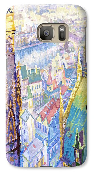 Paris Shadow Notre Dame De Paris Galaxy S7 Case by Yuriy  Shevchuk