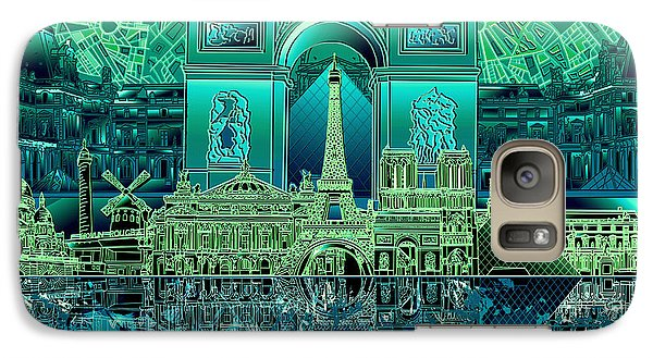 Paris Skyline Landmarks 6 Galaxy S7 Case