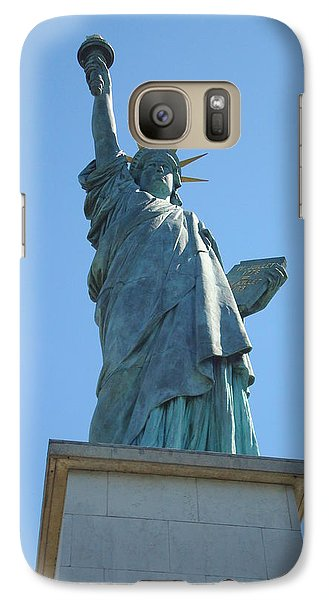Galaxy Case featuring the photograph Paris Statue Of Liberty by Kay Gilley