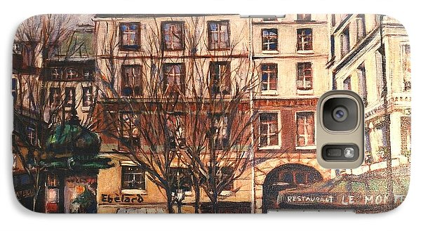 Galaxy Case featuring the painting Paris by Walter Casaravilla