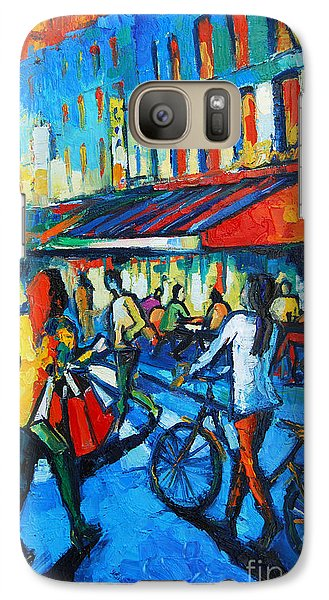 Parisian Cafe Galaxy S7 Case by Mona Edulesco