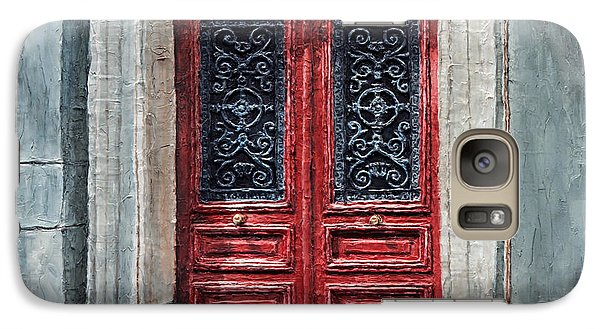Galaxy Case featuring the painting Parisian Door No. 12 by Joey Agbayani