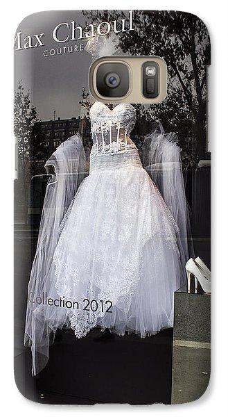 Galaxy Case featuring the photograph Parisian Wedding Dress by Glenn DiPaola