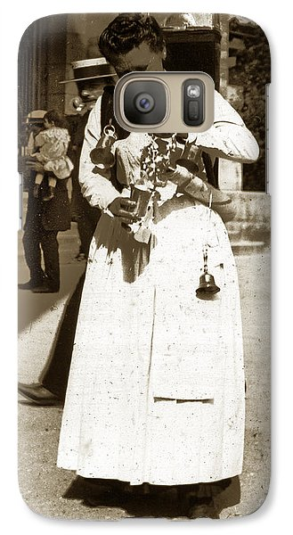 Galaxy Case featuring the photograph Parisian Woman Lady Paris France 1900 Historical Photo by California Views Mr Pat Hathaway Archives