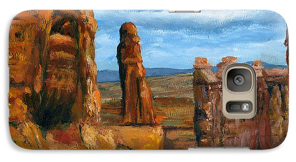 Galaxy Case featuring the painting Park Avenue Arches National Park by Lenora  De Lude