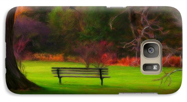 Galaxy Case featuring the painting Park Bench by Bruce Nutting