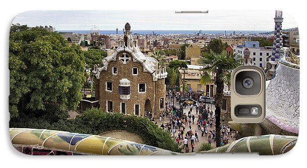 Galaxy Case featuring the photograph Park Guell by Yelena Rozov