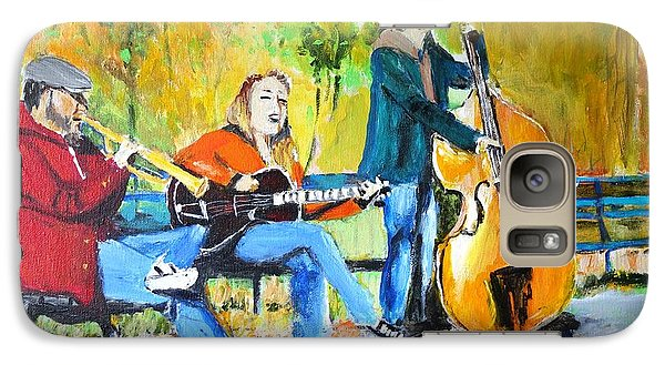 Galaxy Case featuring the painting Park Serenade by Judy Kay