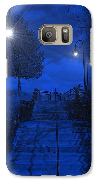 Galaxy Case featuring the photograph Park Stairs by Michael Rucker