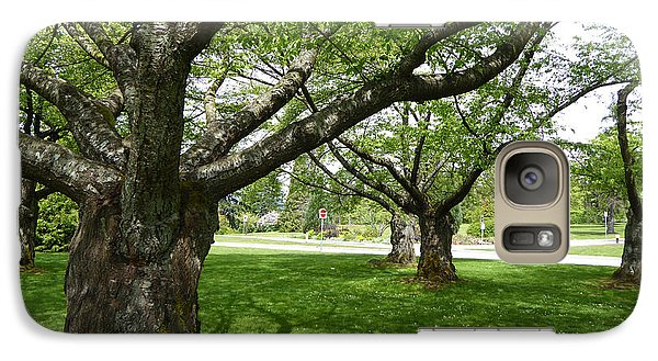 Galaxy Case featuring the photograph Park Trees by Laurie Tsemak