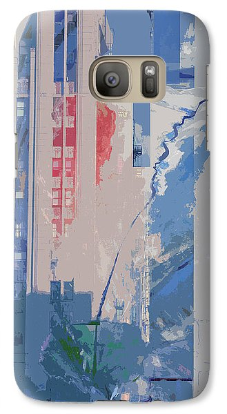 Galaxy Case featuring the mixed media Parking Lot With Tree Spirit Escaping by John Fish