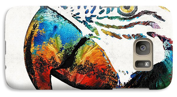 Parrot Head Art By Sharon Cummings Galaxy S7 Case by Sharon Cummings