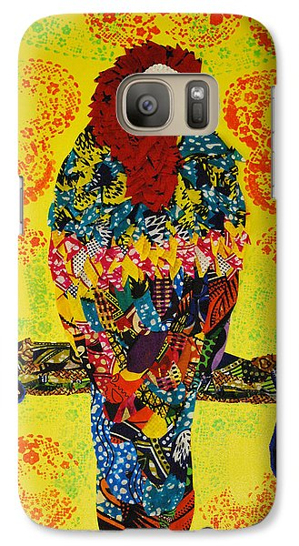 Galaxy Case featuring the tapestry - textile Parrot Oshun by Apanaki Temitayo M