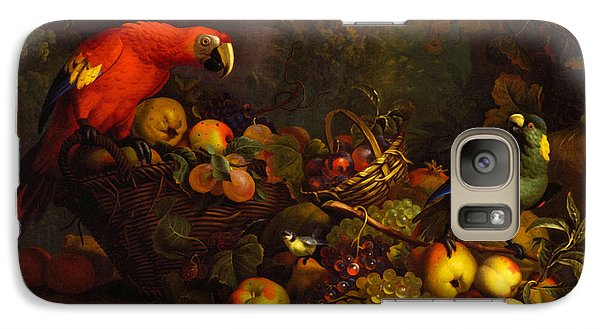 Galaxy Case featuring the digital art Parrots by Tobias Stranover